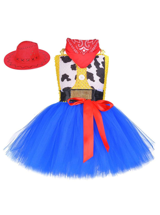 Girls Toy Story Cowgirl Jessie Inspired Halloween Costume - Girls Halloween Costume