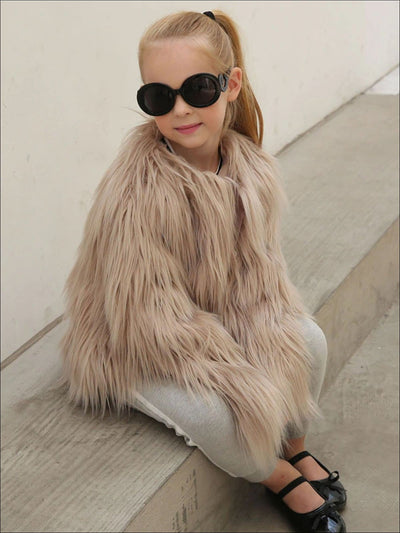 Girls Trendy Winter Faux Fur Jacket - Girls Jacket