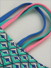Girls Tribal Print Two Piece Swimsuit - Girls Two Piece Swimsuit