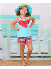 Girls Trimmed Tank & Ruffle Shorts Set - Girls Spring Casual Set