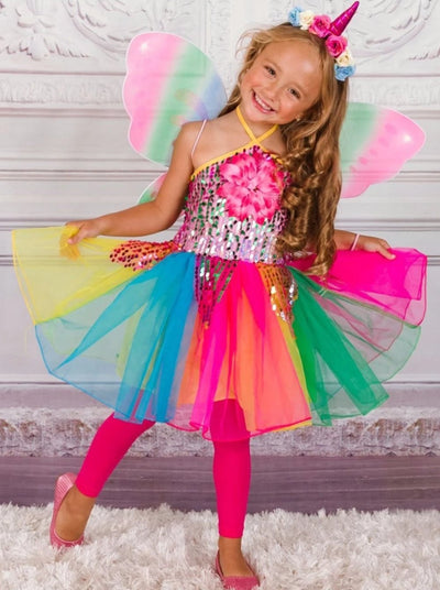 Girls Unicorn Fairy Halloween Costume - Multi / 2T/3T - Girls Halloween Costume