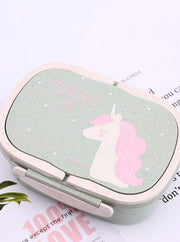 Girls Unicorn Lunch Bento Box Container - Green - Girls Lunchbox