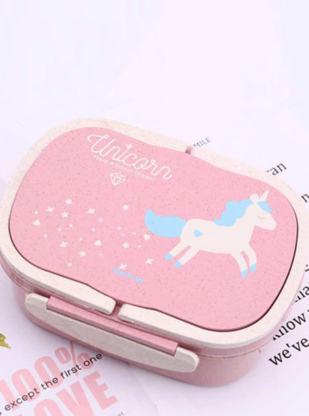 Girls Unicorn Lunch Bento Box Container - Pink - Girls Lunchbox