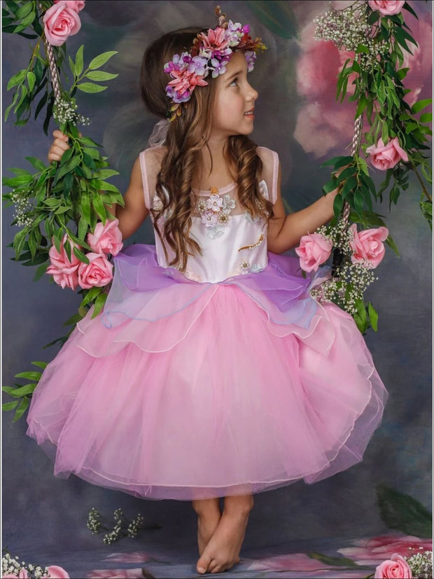Girls Unicorn Party Tutu Dress - Pink / 3T - Girls Spring Dressy Dress