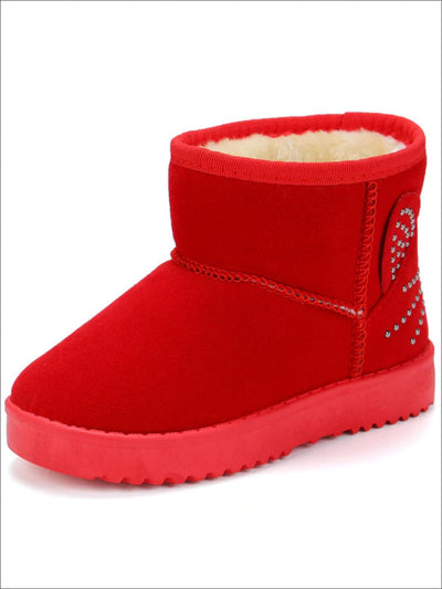 Girls Velvet Kitty Ankle Boots - Red / 1 - Girls Boots
