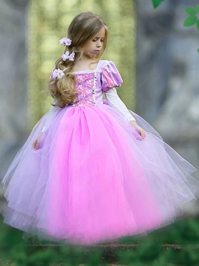 Girls Velvet Rapunzel Inspired Halloween Costume - Girls Halloween Costume