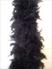 Girls Vintage Style Feather Boa Shawl ( Multiple Color Options) - black - Girls Halloween Costume