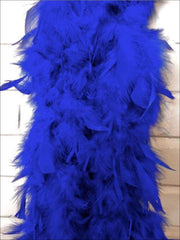 Girls Vintage Style Feather Boa Shawl ( Multiple Color Options) - blue - Girls Halloween Costume