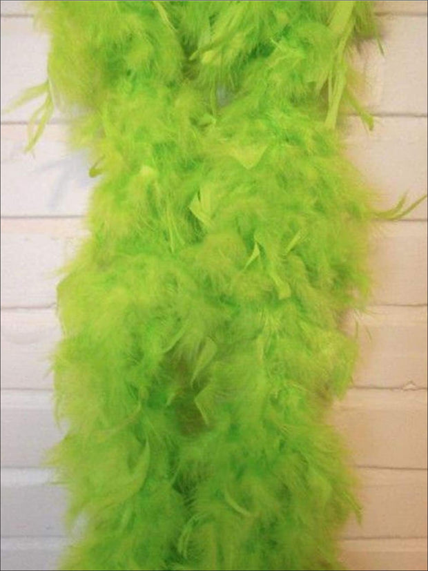 Girls Vintage Style Feather Boa Shawl ( Multiple Color Options) - Fruit green - Girls Halloween Costume