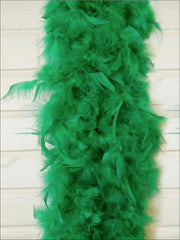 Girls Vintage Style Feather Boa Shawl ( Multiple Color Options) - Grass green - Girls Halloween Costume
