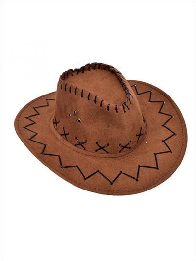 Girls Western Cowboy Hat With Wide Brim - Girls Halloween Costume