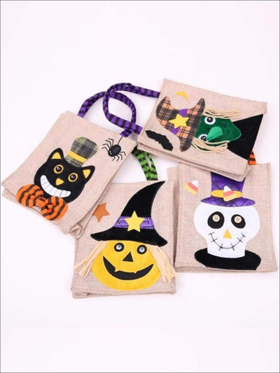 Girls Woven Halloween Character Trick-Or-Treat Bag (4 Style Options) - Accessories