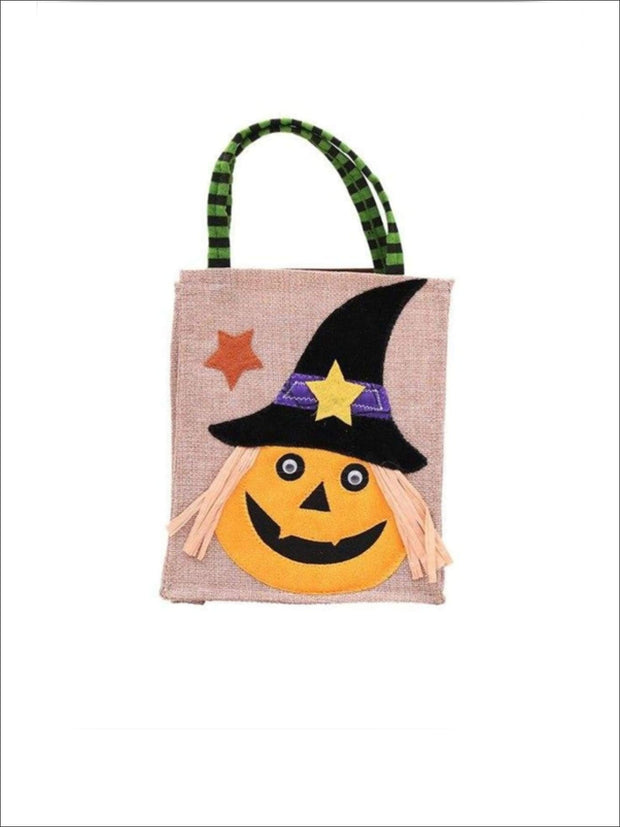 Girls Woven Halloween Character Trick-Or-Treat Bag (4 Style Options) - Pumpkin / 26cm x 15cm - Accessories