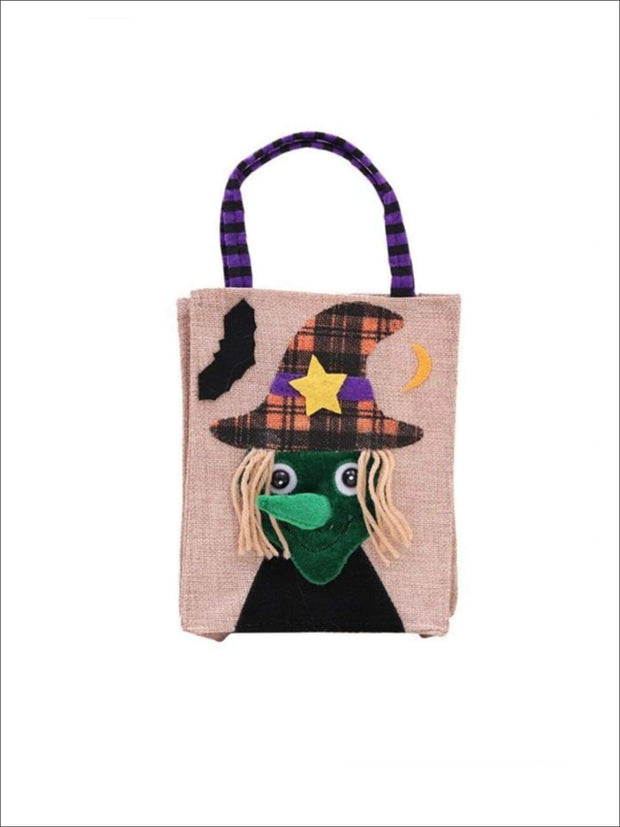 Girls Woven Halloween Character Trick-Or-Treat Bag (4 Style Options) - Witch / 26cm x 15cm - Accessories