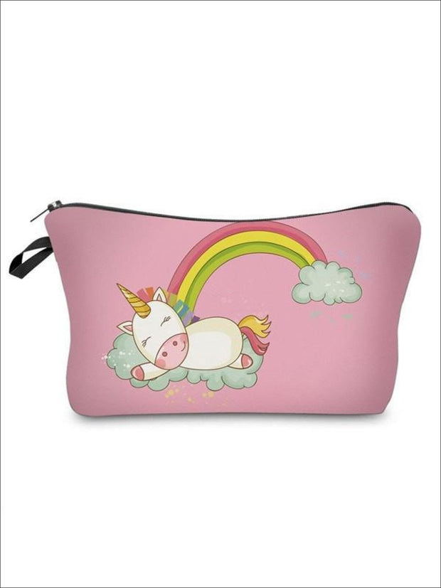 Girls Zipper Unicorn Printed Pencil Case - Pink-4 / 18-22CM*13.5CM - Unicorn Pencil Case