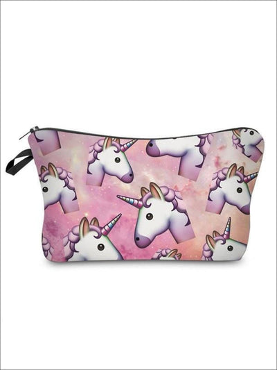 Girls Zipper Unicorn Printed Pencil Case - Pink-6 / 18-22CM*13.5CM - Unicorn Pencil Case