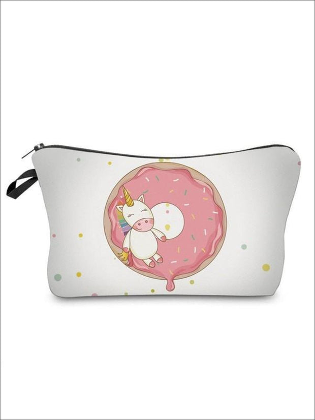Girls Zipper Unicorn Printed Pencil Case - White-7 / 18-22CM*13.5CM - Unicorn Pencil Case