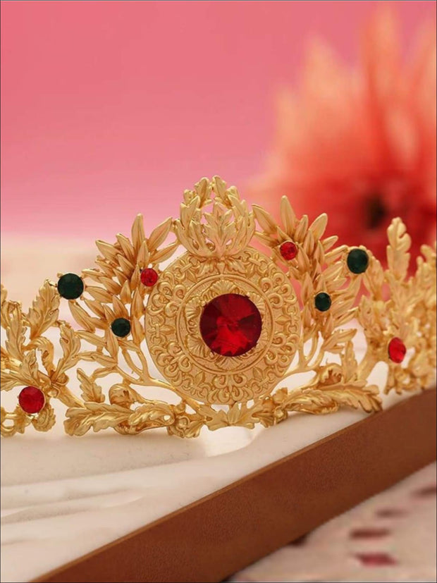 Gold Elena of Avalor Inspired Crown/Tiara - Girls Halloween Costume