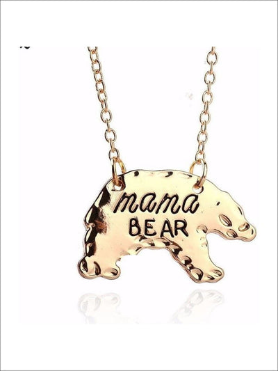 Gold Mothers Day Necklace Mama Bear APR17CNALNECK14G