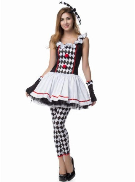 Mommy & Me Red, Black, and White Harley Quinn Halloween Costume