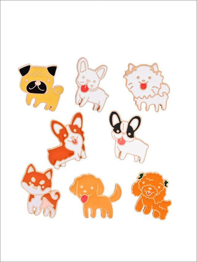 I Love Puppies Pins - 8pc set - Pins
