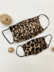 Adults and Kids Leopard Reusable/Washable Face Masks with Filter