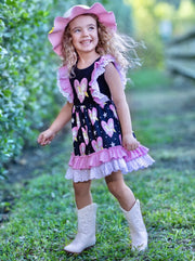 Girls Fall Cable Knit Peplum Tutu Sweater