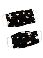 Adults and Kids Star Print Reusable/Washable Face Masks with Filter