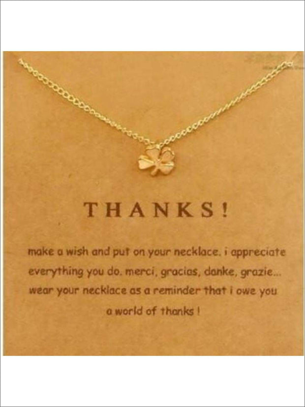 Inspiration Necklaces (Good Luck Unicorn Confidence Happy Lucky etc) - Clover / One - Necklace