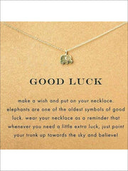Inspiration Necklaces (Good Luck Unicorn Confidence Happy Lucky etc) - Elephant / One - Necklace