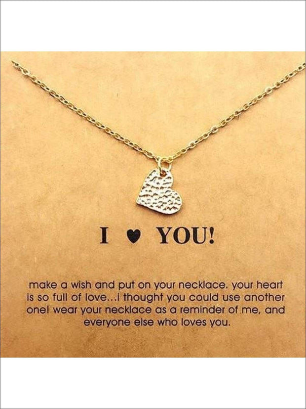 Inspiration Necklaces (Good Luck Unicorn Confidence Happy Lucky etc) - Heart / One - Necklace