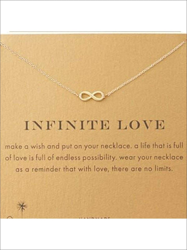 Inspiration Necklaces (Good Luck Unicorn Confidence Happy Lucky etc) - Infinity / One - Necklace
