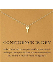 Inspiration Necklaces (Good Luck Unicorn Confidence Happy Lucky etc) - Key / One - Necklace