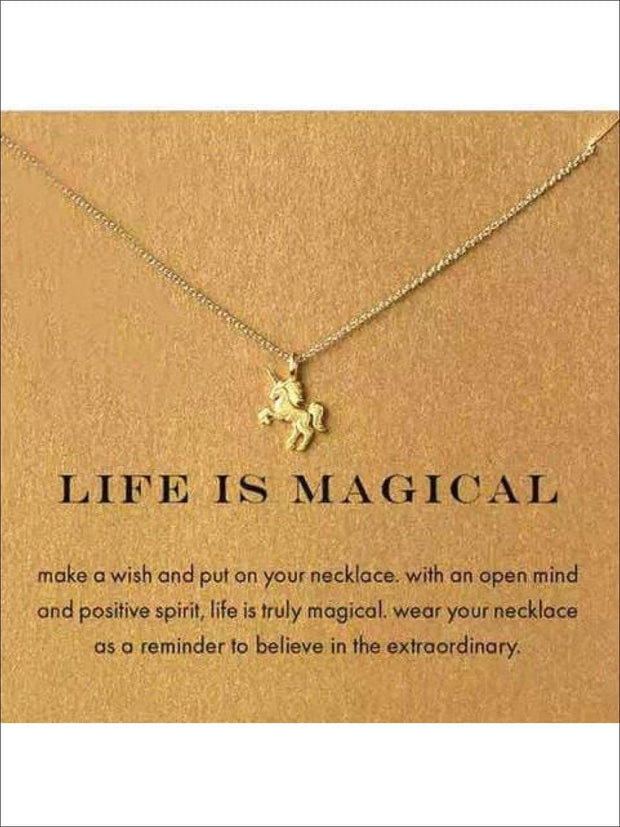 Inspiration Necklaces (Good Luck Unicorn Confidence Happy Lucky etc) - Unicorn / One - Necklace