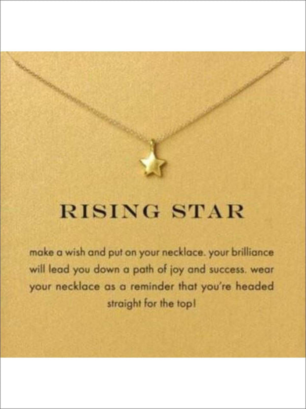 Inspiration Necklaces (Good Luck Unicorn Confidence Happy Lucky etc) - Star / One - Necklace