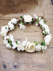 Ivory Flower Girl Headband - white / One - Flower Halo