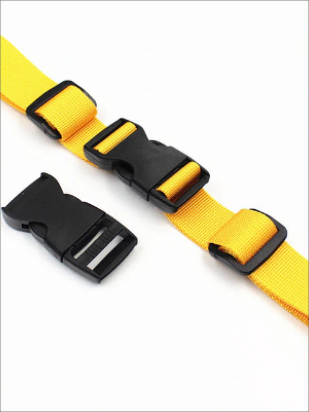 Kids Adjustable Chest Clip & Harness For Backpacks (4 color options) - Yellow - Girls Backpack