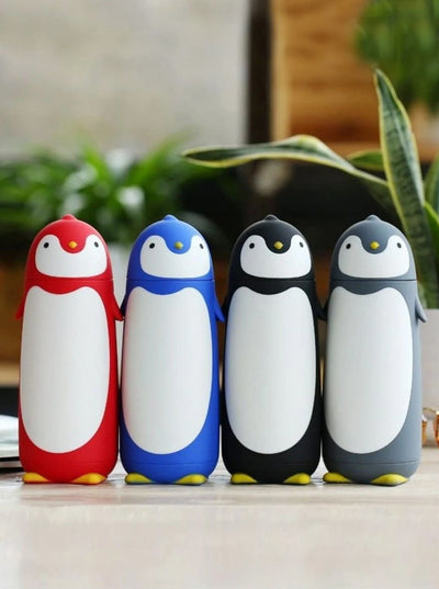 Kids Penguin Stainless Steel Insulated Water Bottle - Girls Lunchbox