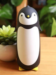 Kids Penguin Stainless Steel Insulated Water Bottle - Black / 280ML - Girls Lunchbox