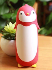 Kids Penguin Stainless Steel Insulated Water Bottle - Red / 280ML - Girls Lunchbox