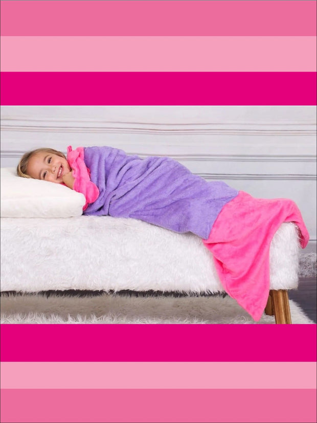 Kids Snuggle & Plush Mermaid Blanket (3 Colors) - Girls Accessories