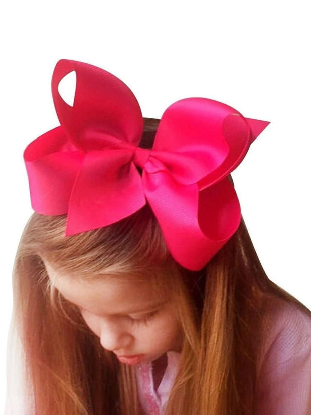 Girls Large Bow Hair Clip