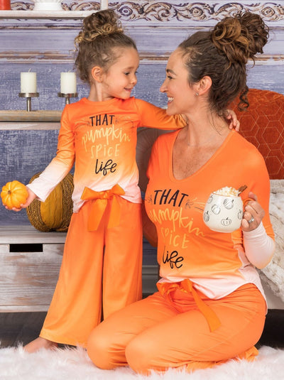 "Mommy & Me Long Sleeve ""That Pumpkin Spice Life"" Pajama Set"