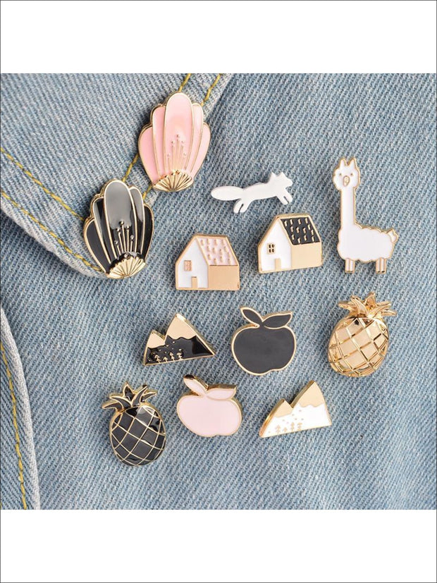 Mermaid Shell Pins - 12pc set - Pins
