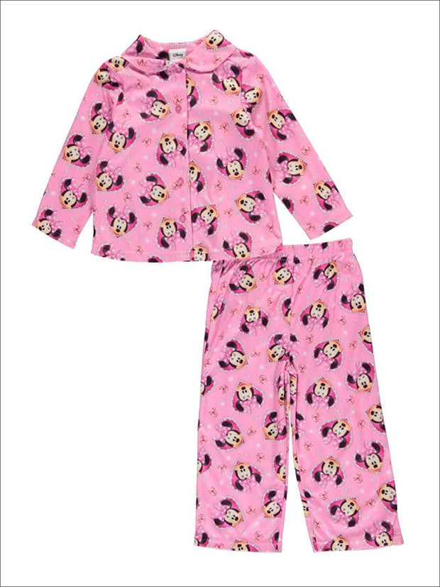 Minnie Mouse Little Girls Toddler Jewel Frame 2-Piece Pajamas - Girls Pajama