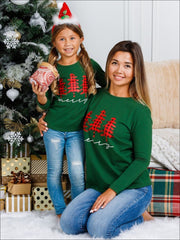 Mommy and Me Merry Plaid Christmas Tree Top - Mommy & Me Top