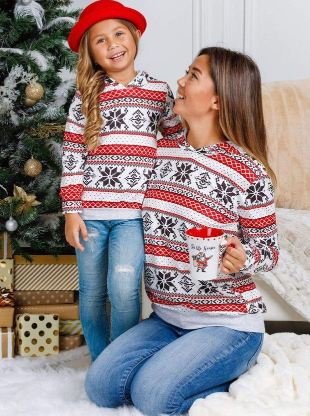 Mommy and Me Winter Snowflake Hoodie - Mommy & Me Top