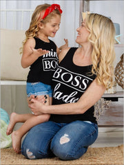 Mommy & Me Boss Lady & Mini Boss Graphic Tank - Mommy & Me Top