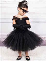 Mommy & Me Breakfast at Tiffanys Inspired Halloween Costume - Black / 2T - without Train - Girls Halloween Costume