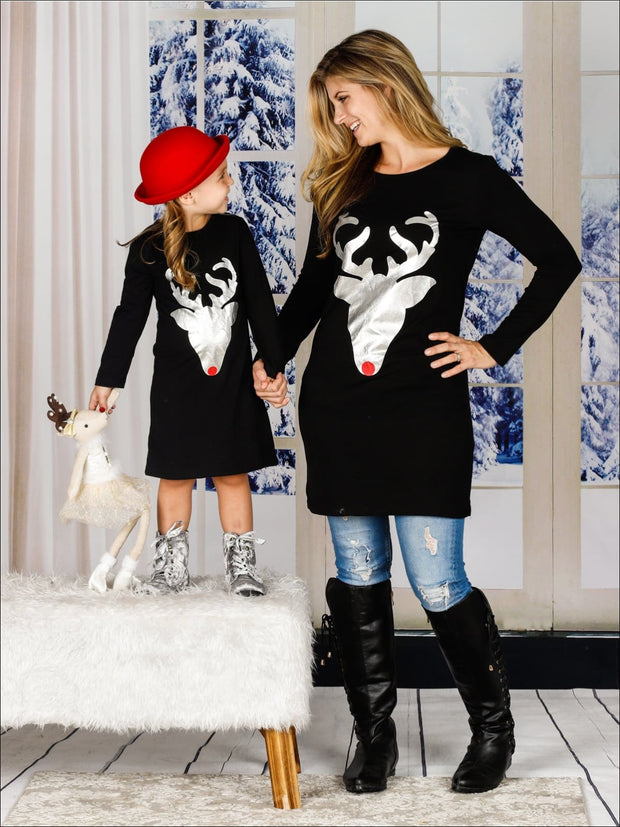 Mommy & Me Family Matching Deer Tunic Dress - Mommy and Me